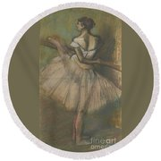 Dancer At The Helm Round Beach Towel