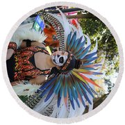 Dancer Day Of The Dead II Round Beach Towel