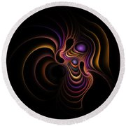 Dancer Round Beach Towel