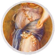 Dancer With Castanettes 1909 Round Beach Towel