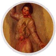 Dancer With Castenets 1895 Round Beach Towel