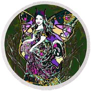 Dancing Butterfly Round Beach Towel