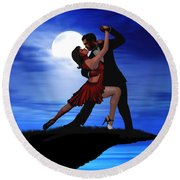 Dancing By Moonlight Round Beach Towel