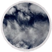 Dancing Clouds Round Beach Towel
