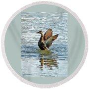 Dancing Duck Round Beach Towel
