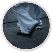 Dancing Feet At The Dominican Republic Son Party Number Three Round Beach Towel