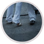 Dancing Feet At The Dominican Republic Son Party Number Two Round Beach Towel