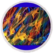 Dancing Flames Round Beach Towel