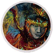 Dancing In Color Round Beach Towel