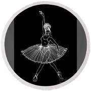 Dancing In The Dark Round Beach Towel