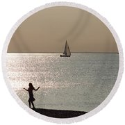 Dancing In The Moonlight Round Beach Towel