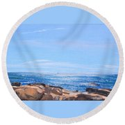 Dancing Light Round Beach Towel