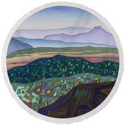 Dancing Light Of Northern New Mexico Round Beach Towel