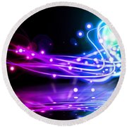Dancing Lights Round Beach Towel