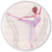 Dancing Melody Round Beach Towel