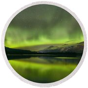 Dancing Northern Lights Round Beach Towel