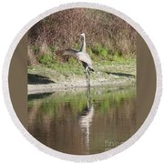 Dancing On The Pond Round Beach Towel