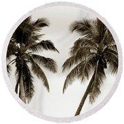 Dancing Palms Round Beach Towel