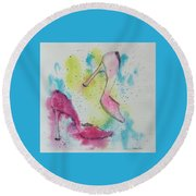 Dancing Shoes Round Beach Towel