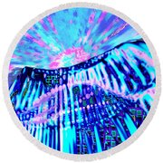 Dancing Sky Round Beach Towel