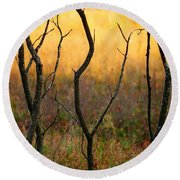 Dancing Trees Round Beach Towel