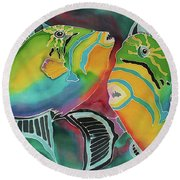 Dancing Triggers Round Beach Towel