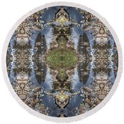 Dancing With Aspen Leaves Round Beach Towel