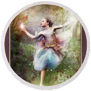 Dancing With The Light Round Beach Towel
