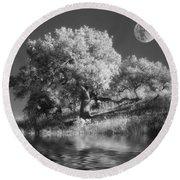 Dancing With The Moon Round Beach Towel