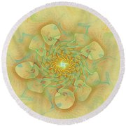 Dancing With The Spirits Round Beach Towel