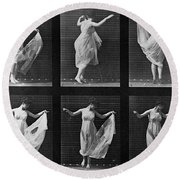 Dancing Woman Round Beach Towel
