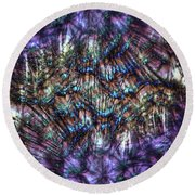 Dandelion Seeds Abstract Round Beach Towel