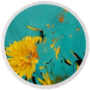 Dandelion Summer Round Beach Towel