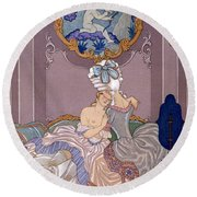 Dangerous Liaisons Round Beach Towel by Georges Barbier