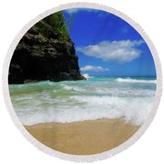 Dangerous Yet Beautiful Kauai Round Beach Towel