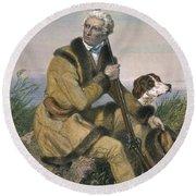 Daniel Boone (1734-1820) Round Beach Towel
