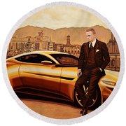 Daniel Craig As James Bond Round Beach Towel