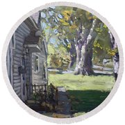 Daniel's House In Bloomington Mn Round Beach Towel