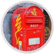 Danish Mailbox Round Beach Towel