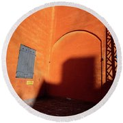 Danish Orange And Shadows  Copenhagen Denmark Round Beach Towel