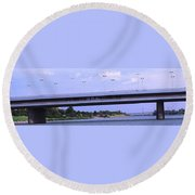 Danube River Bridges Round Beach Towel