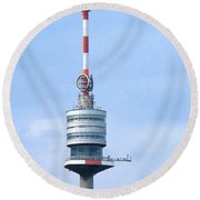 Danube Tower Vienna Round Beach Towel