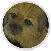 Dapper Dog  Round Beach Towel