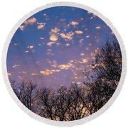 Dappled Sunset-1548 Round Beach Towel