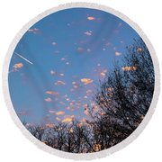Dappled Sunset-1565 Round Beach Towel
