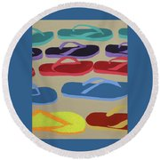 Dare To Be Different Round Beach Towel
