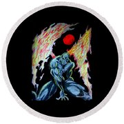 Dark Angel #2 Round Beach Towel