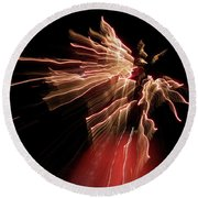Dark Angel Round Beach Towel