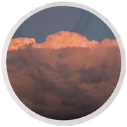 Dark Brooding Cloudscape Round Beach Towel