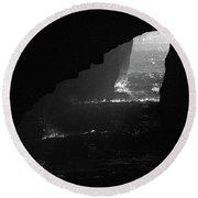 Dark Cave Round Beach Towel